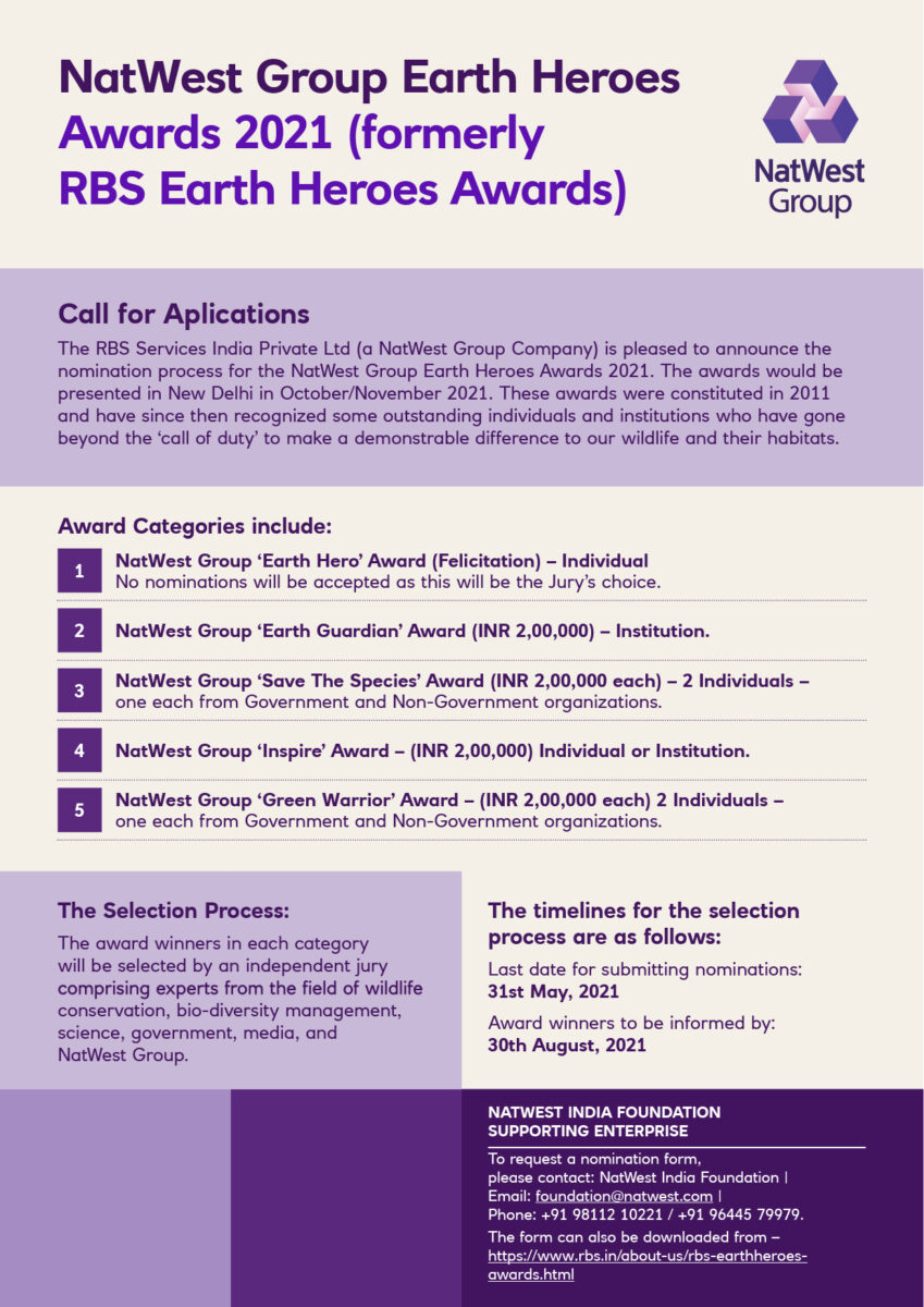 NatWest Earth Heroes Awards 2021: Nominations Open!