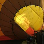 Hot-air balloon safaris are best during the beautiful morning light