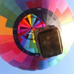Hot air balloon safaris are best during the beautiful morning light