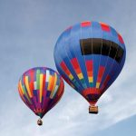 A hot air balloon safari is best during the beautiful morning light at sunrise
