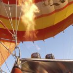 A hot air balloon is made up of three components