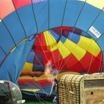 Hot air balloons are made up of three components: basket, burners, and an envelope