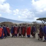 Maasai tribe live in enclosures called Enkang