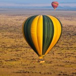 A safari balloon has 4 compartments for the passengers