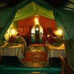 Tented accommodation offers stargazing opportunities and guided walks