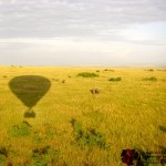 A hot-air balloon flies between 15 to 25 kilometres