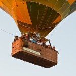 Each compartment of the hot-air balloon basket can accommodate up to 4 people