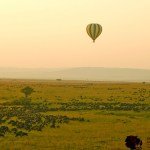 Hot-air ballooning provides you with a view of a good diversity of animals