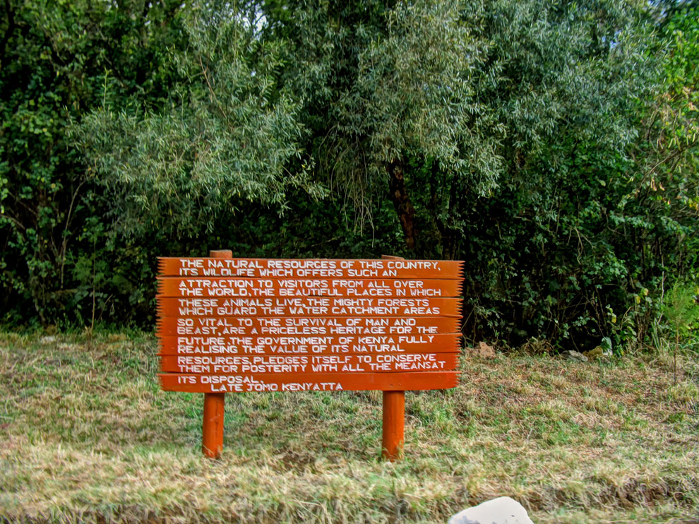 Marsabit National Park_Sign at entrance to park