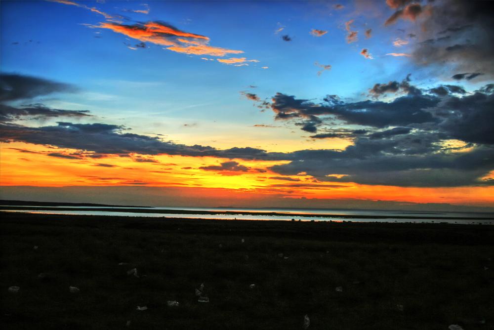 turkana eclipse_sunset