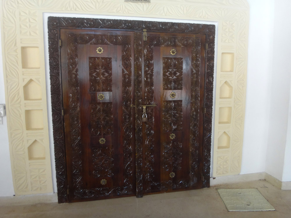 Temple Point Resort_Carved swahili door