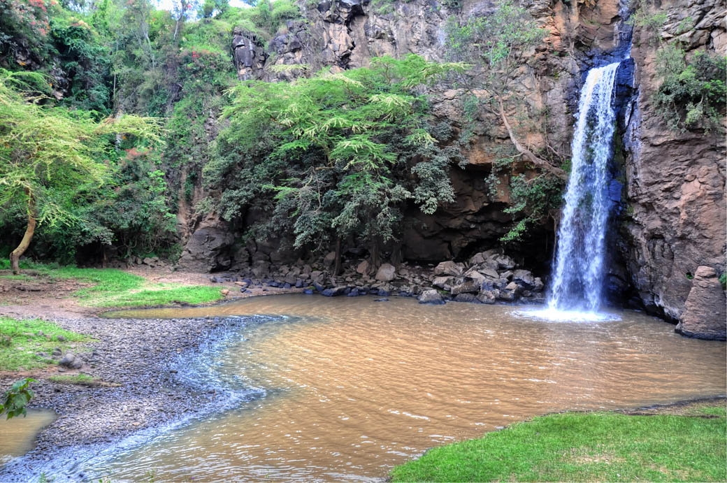 The Makalia falls are an integral site in the Lake Nakuru National Park