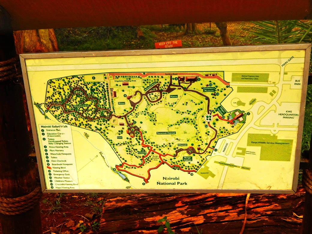 Nairobi Safari Walk_map