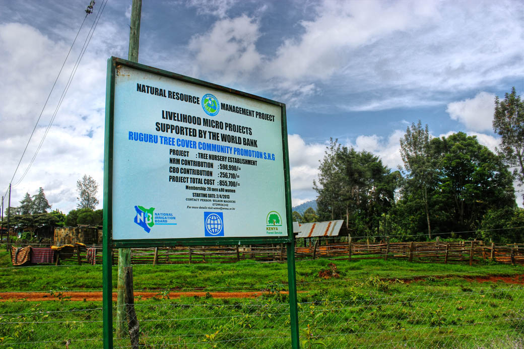 Save Mount Kenya _sign board