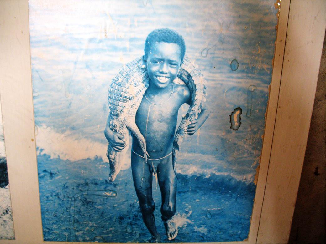 Koobi Fora Museum_Child with crocodile