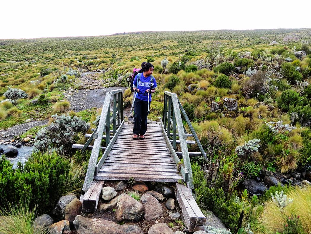 Mount Kenya_crossing stream