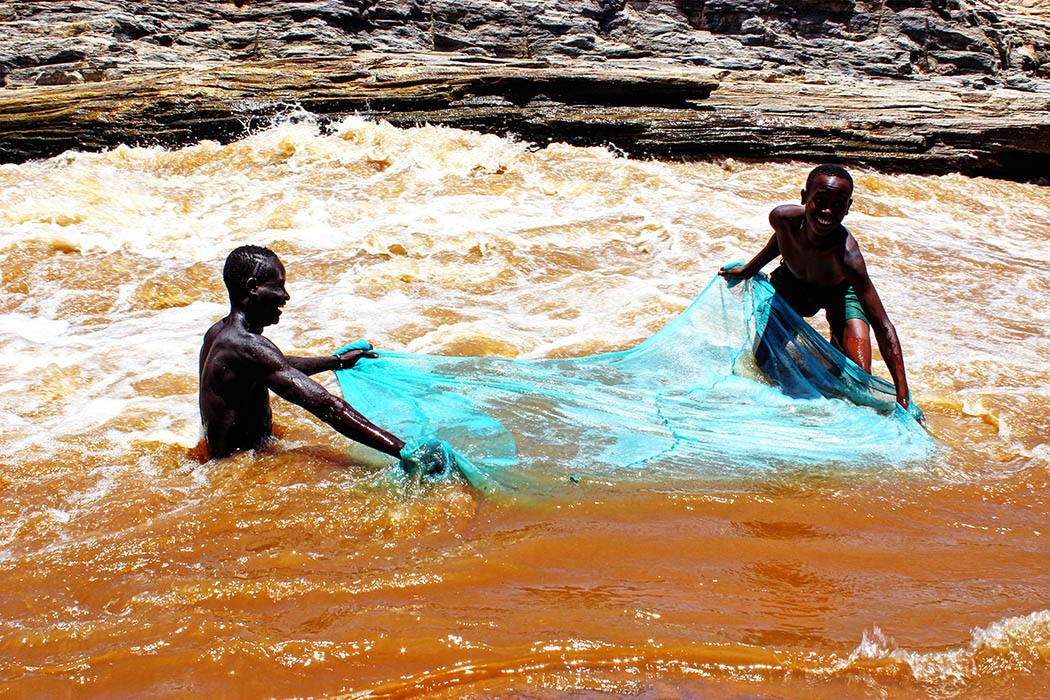 Sights & People from the North Rift_Boys fishing
