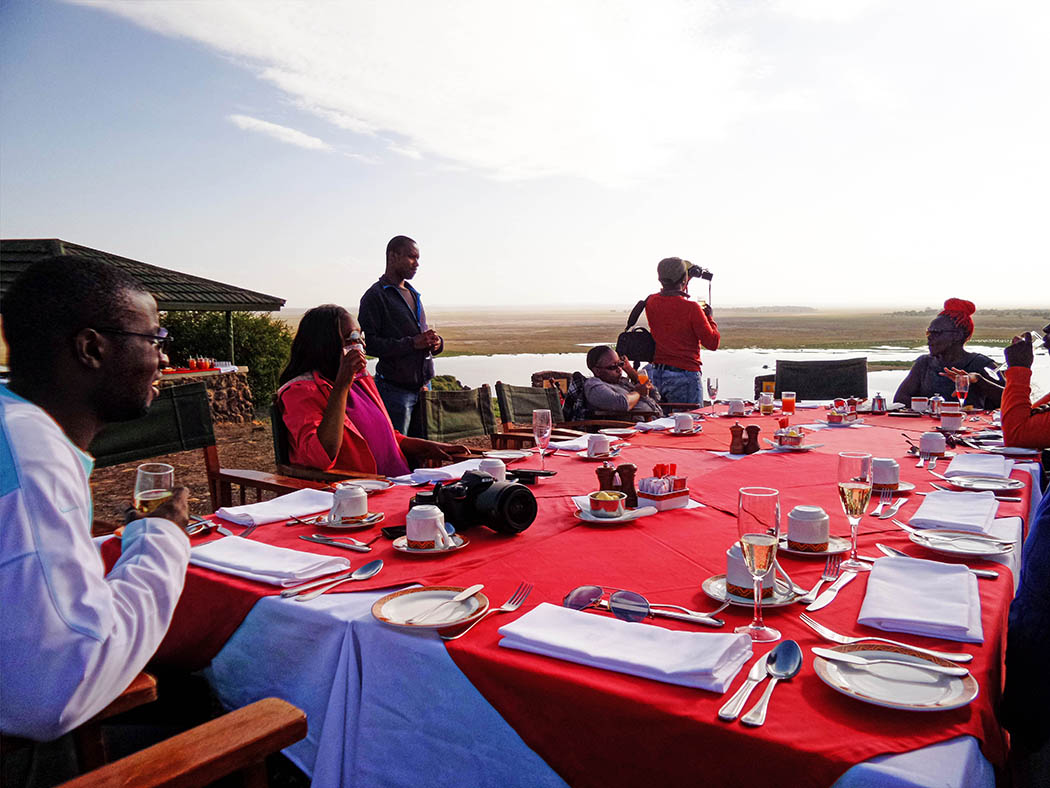 Amboseli Serena Safari Lodge_breakfast at observation hill