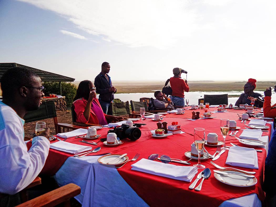 Amboseli Serena Safari Lodge_breakfast at observation hill