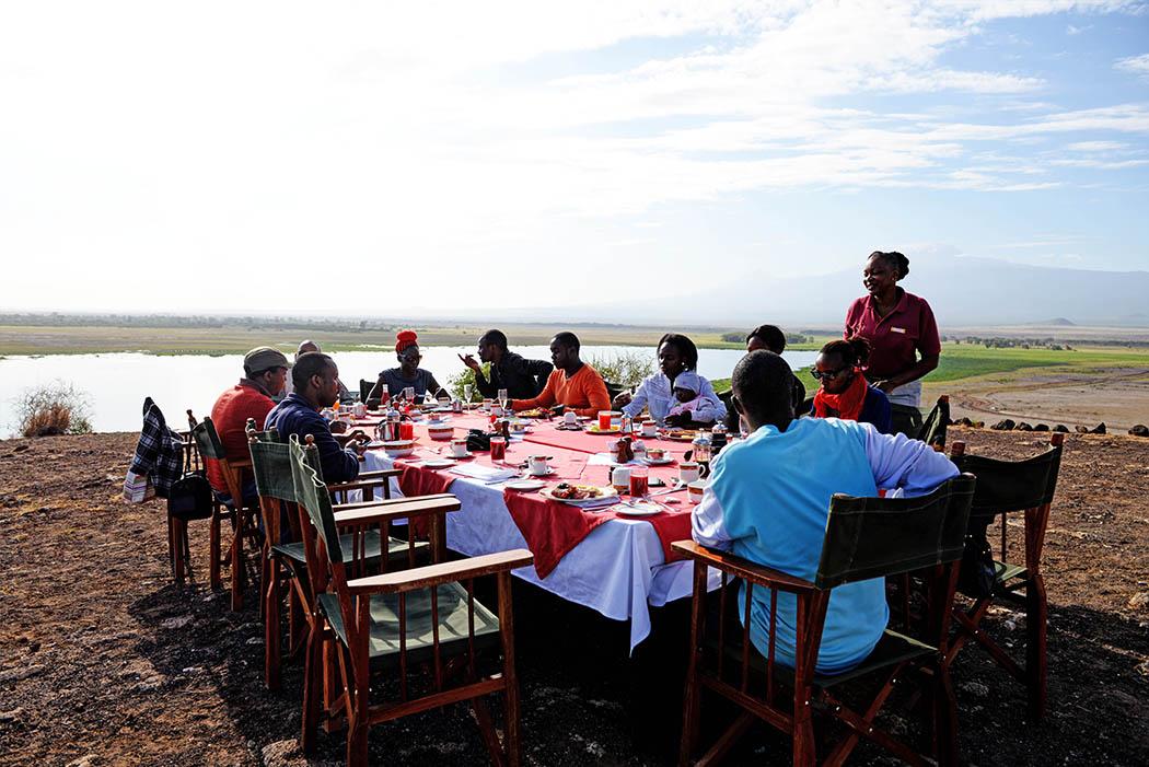 Amboseli Serena Safari Lodge_breakfast at observation hill1