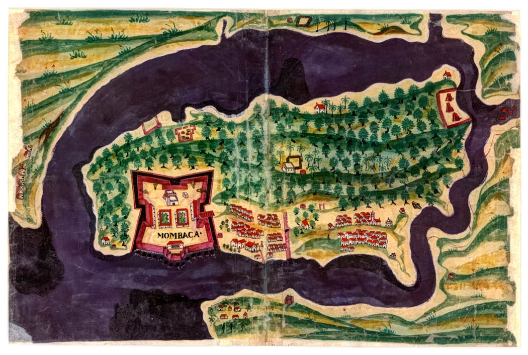Fort Jesus Mombasa_old map of fort