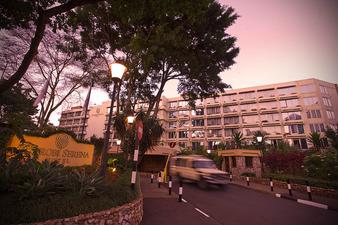 Nairobi Serena Hotel_Hotel exterior at dusk