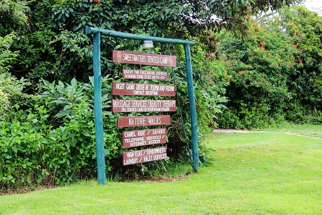 Sweetwaters Serena Camp_Sign