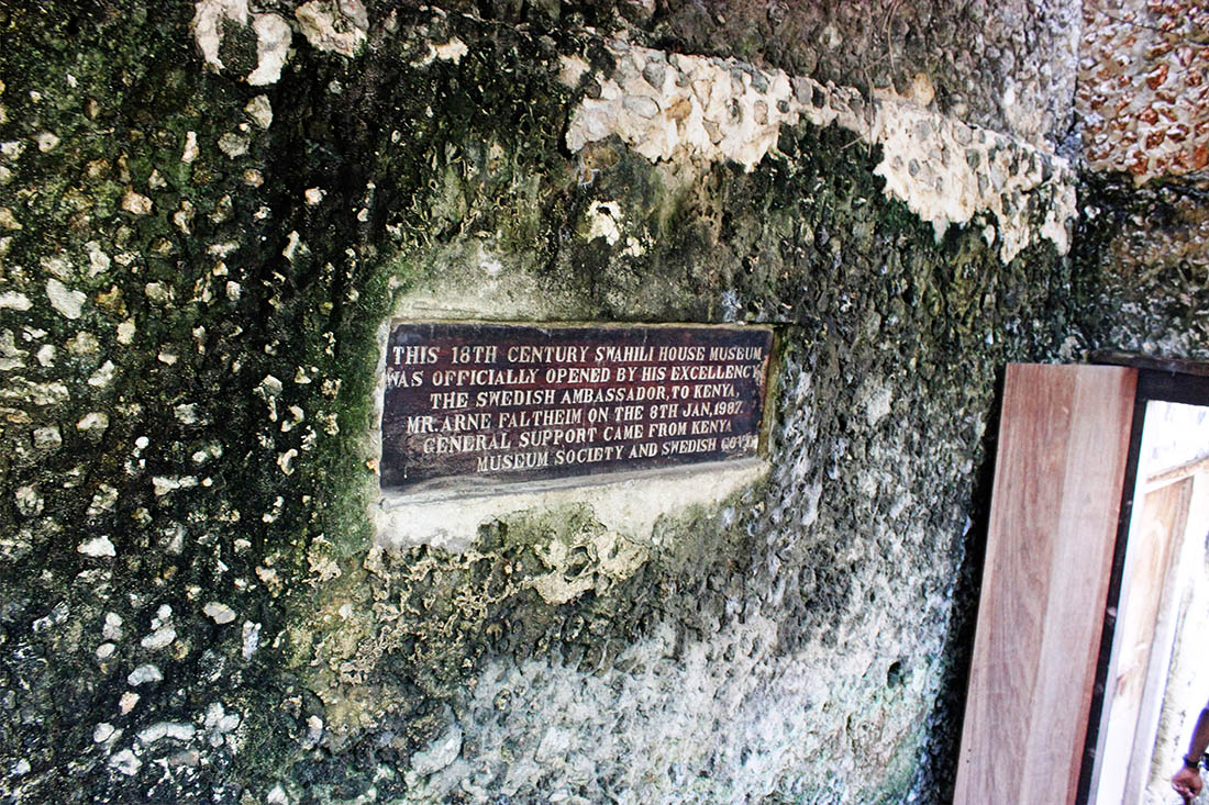 Swahili House Museum_plaque
