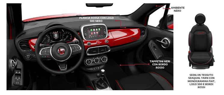 interni fiat 500x red