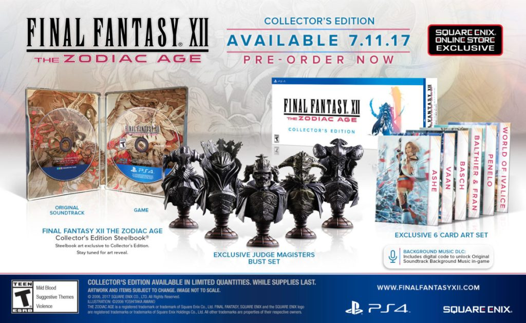 Final Fantasy XII The Zodiac Age Collectors Edition