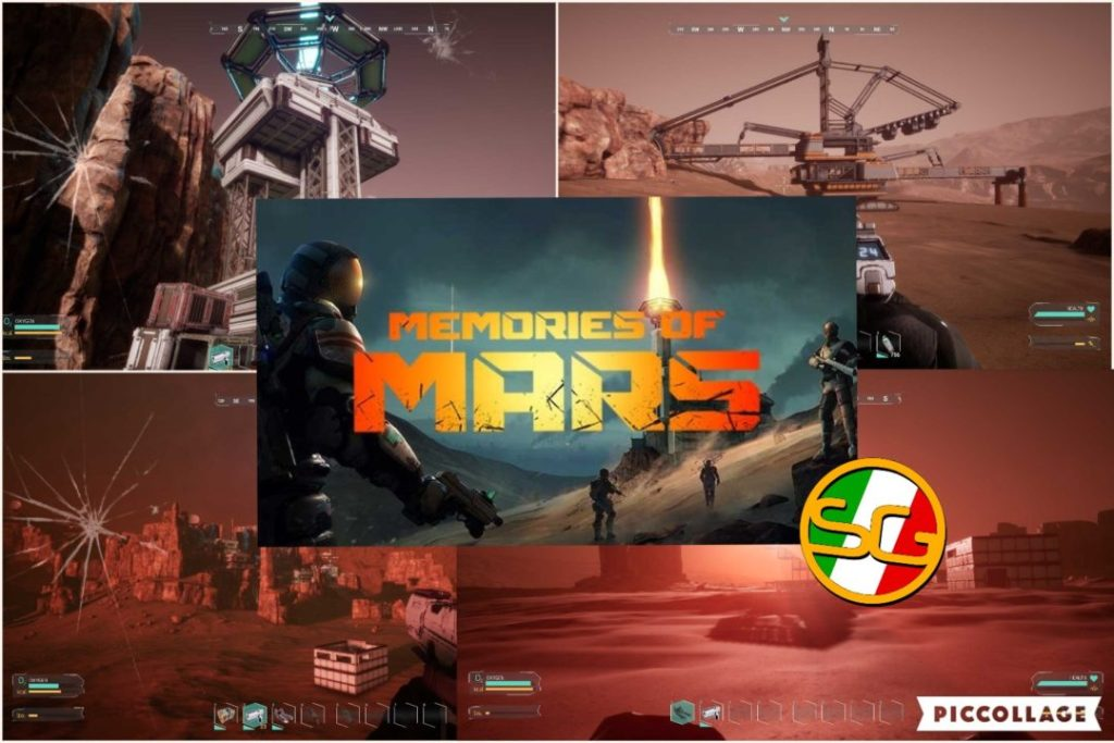 Memories Of Mars collage di screenshot e logo ufficiale