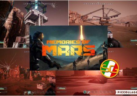Memories Of Mars collage di screenshot e logo ufficiale