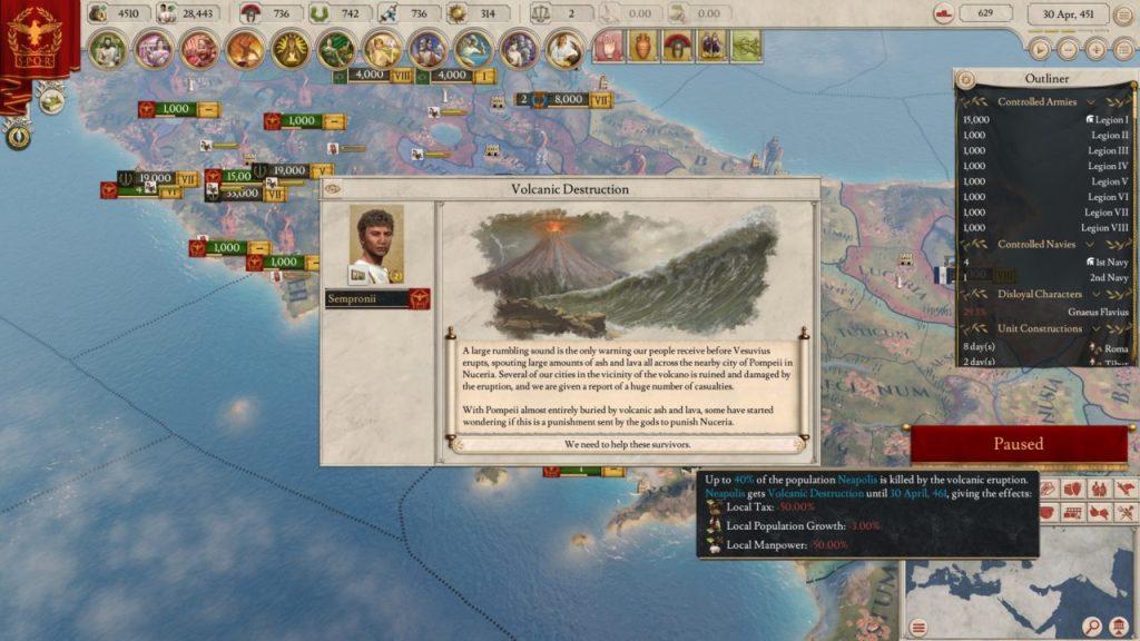 Imperator Rome disastri