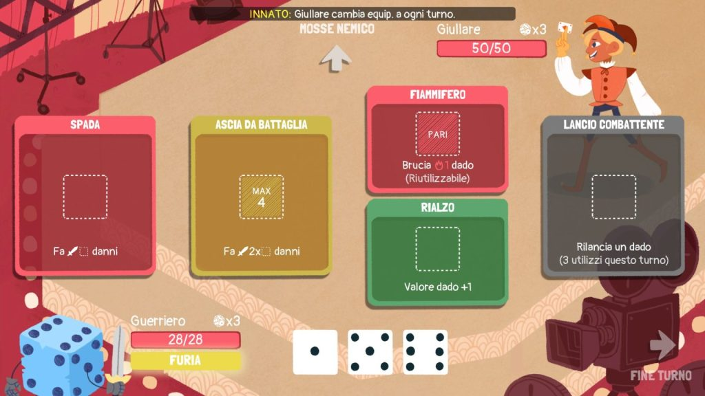 Dicey Dungeons Combattimento