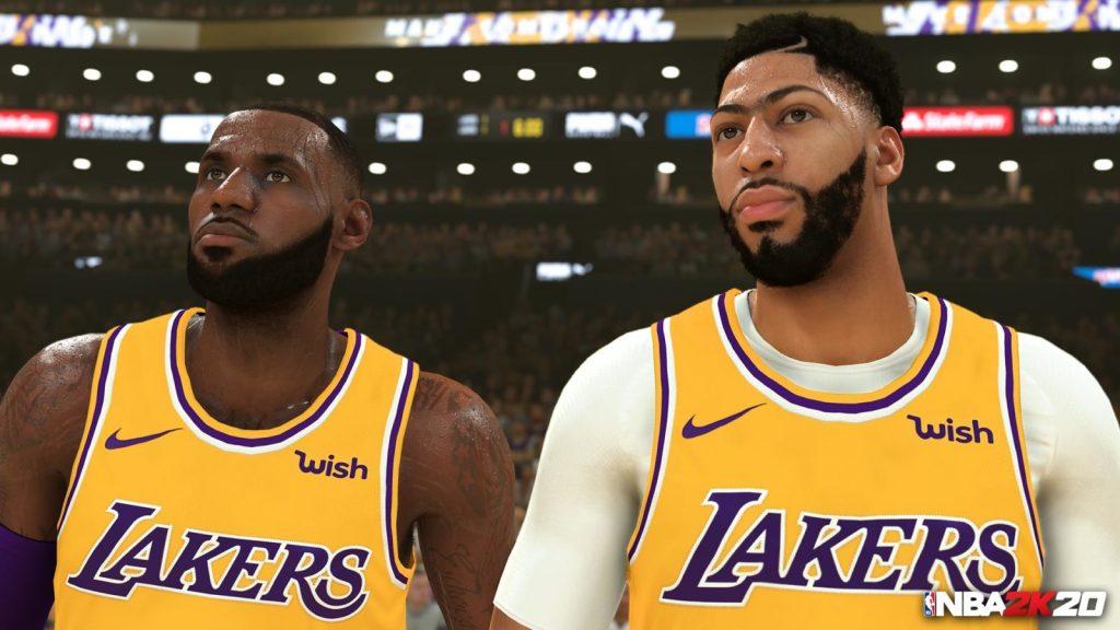 NBA 2K20 LeBron e Davis