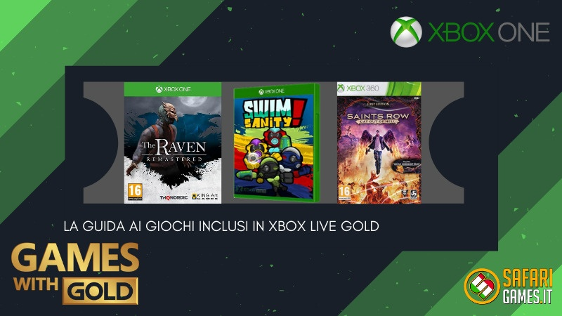 Games with Gold dicembre 2020