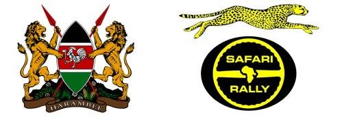 Safari Rally Logo and the coat of arms of Kenya