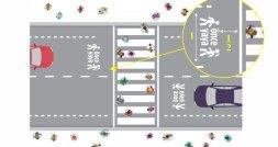 """Trafikte Yeni Dönem! Yaya ve Okul Geçitlerine """"Önce Yaya"""" Görselleri Çizilecek"""