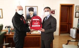 AFAD Strateji Geliştirme Dairesi Başkanı Sadi Ergin'den Vali Dr. Ozan Balcı'ya Ziyaret