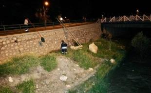 İtfaiye Ekipleri Çivril Deresi'ne Düşen Kediyi Kurtardılar