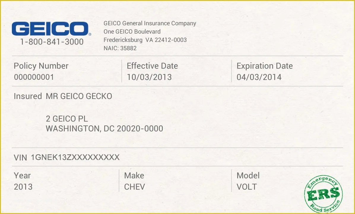 Free Fake Auto Insurance Card Template Car Safety Car