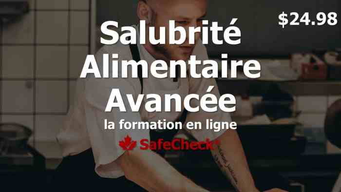 French Language Food Handler Course