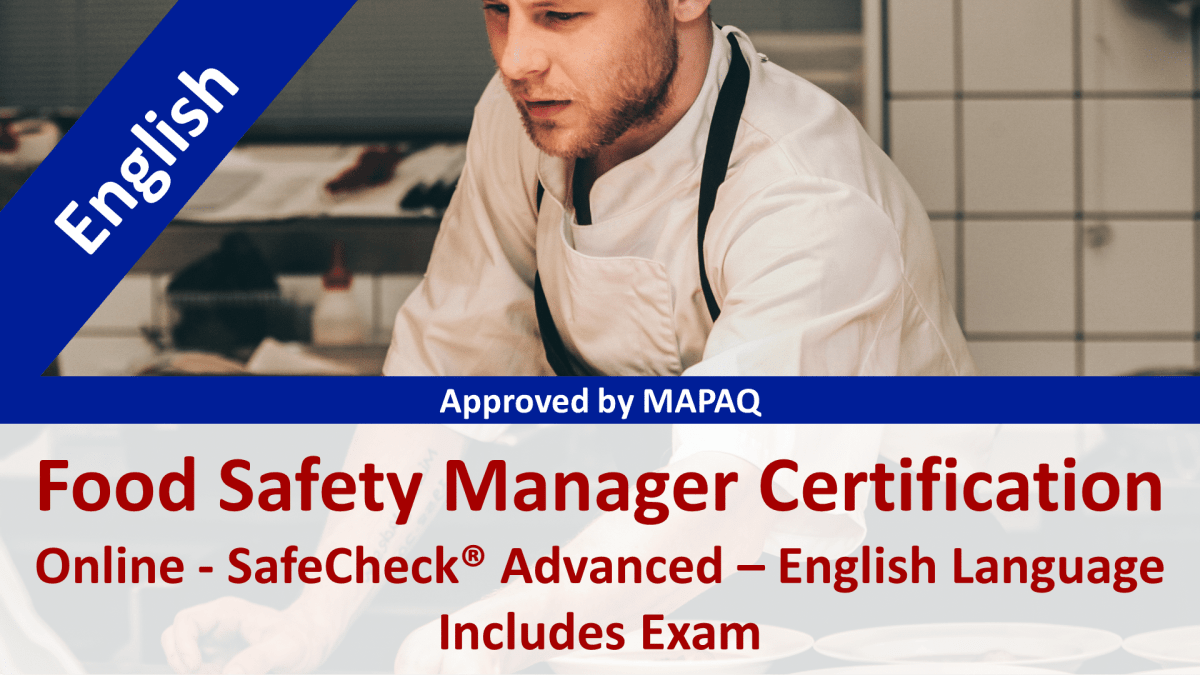MAPAQ - Food Safety Manager Certification