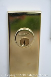 Gold Baldwin Door Lock