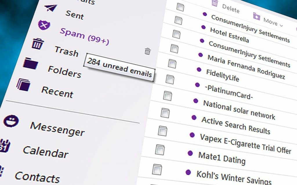 picture of email inbox
