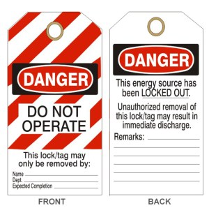 Lockout Tags Safehouse Signs