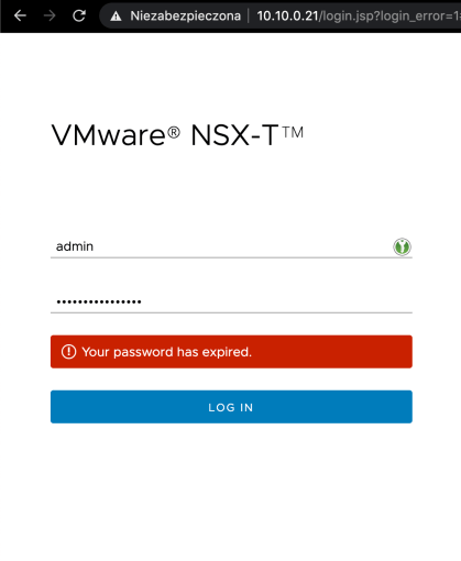 NSX-T admin password expired