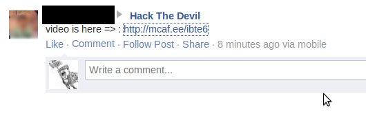 facebook-spam-abusing-mcafee-url-shortner