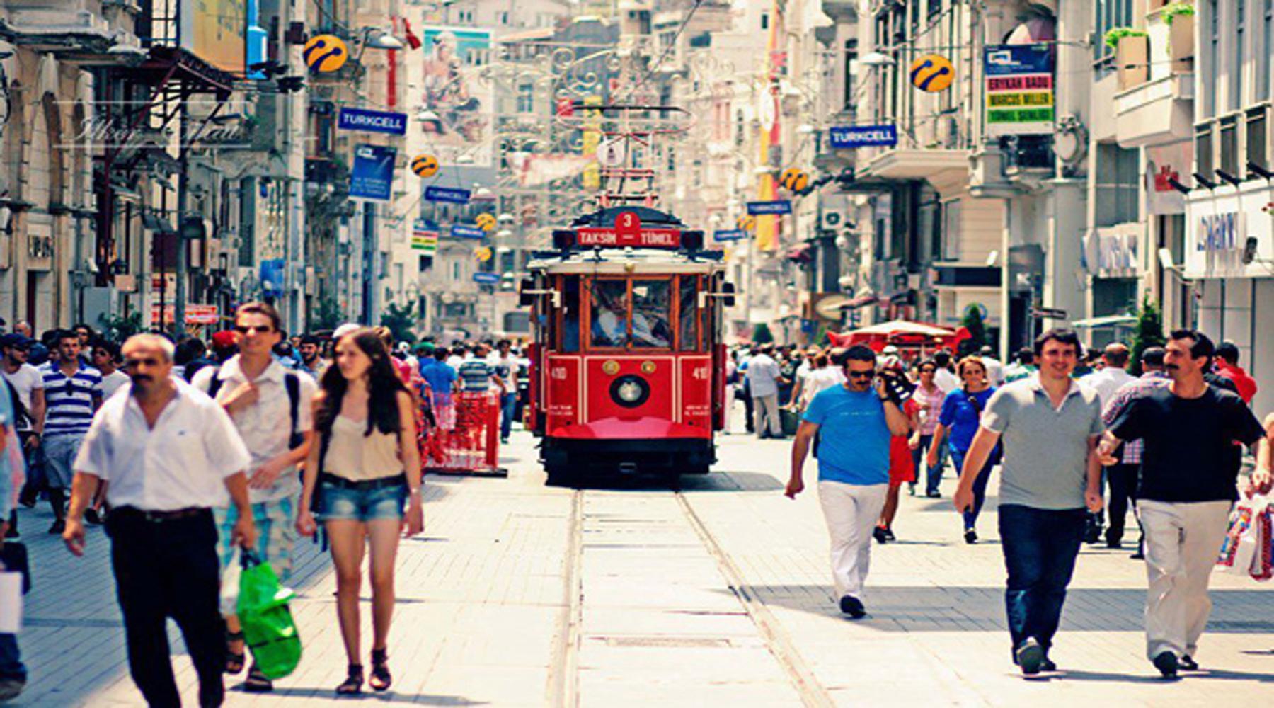 نتيجة بحث الصور عن شارع الاستقلال اسطنبول