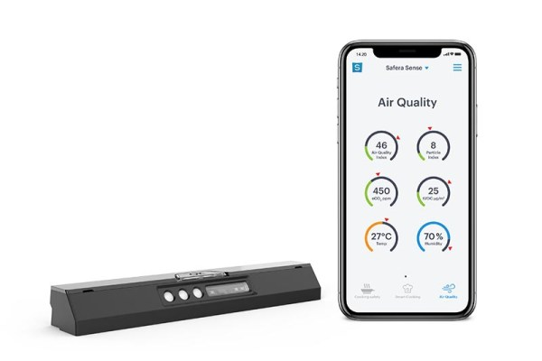 With Safera Sense Pro and the Safera mobile app you'll be able to monitor indoor air quality